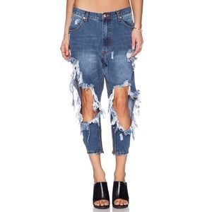 One by One Teaspoon Kingpins Destroyed Jeans